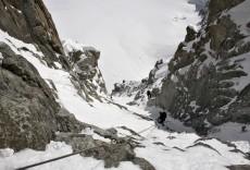 Alpinisme hivernal - GOULOTTE À CHAMONIX